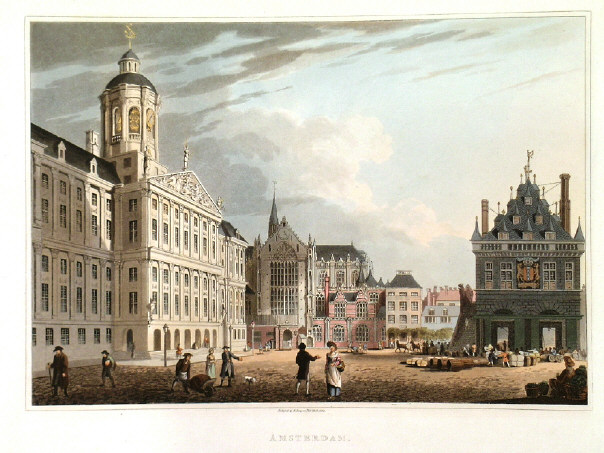 The Royal Palace in 1814 by R. Bowyer