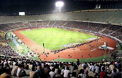 Das Azadi-Stadion in Teheran