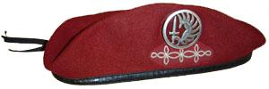 L'histoire des Hussards Parachutistes . B%C3%A9ret_rouge_du_1er_r%C3%A9giment_de_hussards_parachutistes