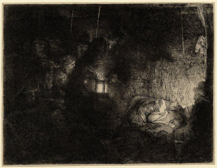 secretos-dibujo-Rembrandt-adoración-pastores-pieza-nocturna