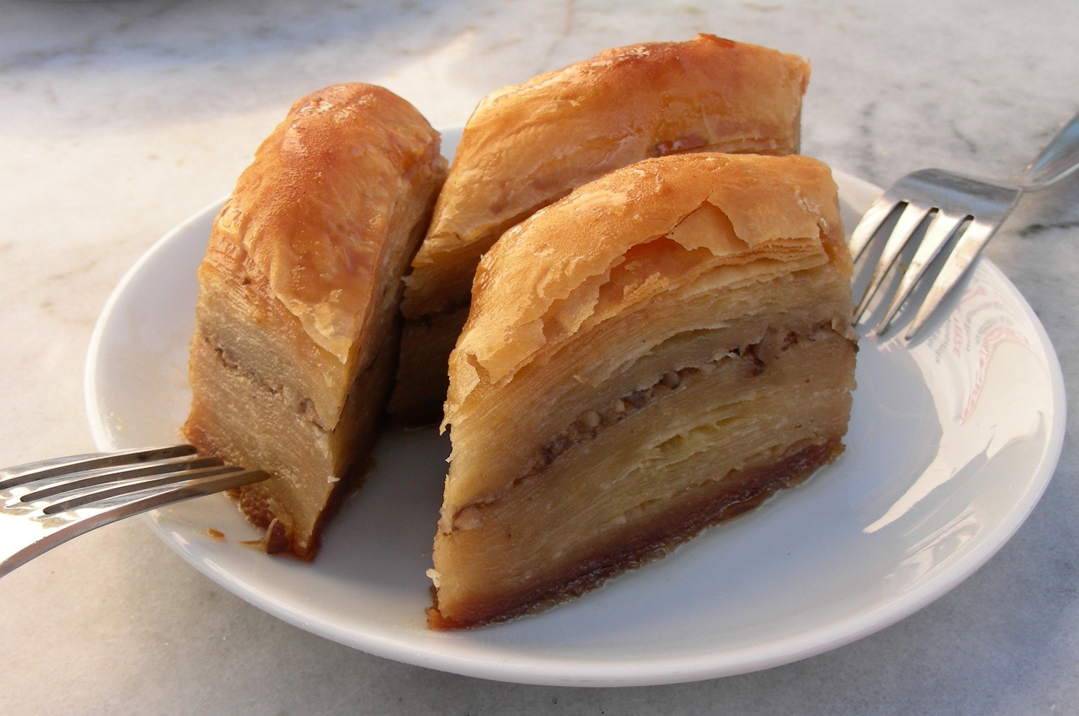 baklava e g pastry its texture seems to be similar to that of moon ...
