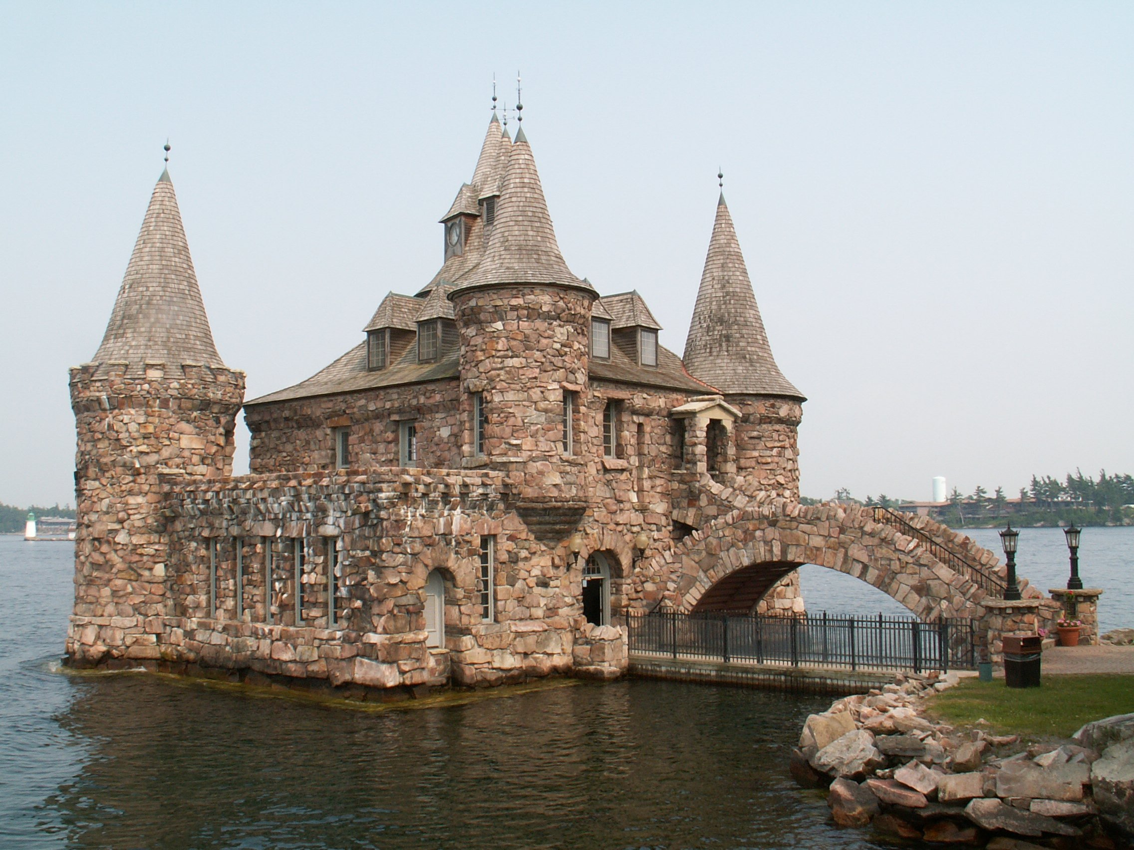 Castle In New York On Island