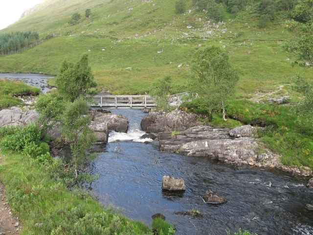 Bridge over the River Elchaig on the track to the Falls of Glomach - geograph.org.uk - 969753