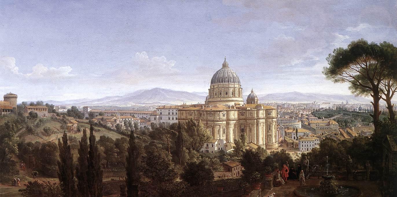 Каспар ван Виттель - Собор Святого Петра в Риме - WGA25822.jpg
