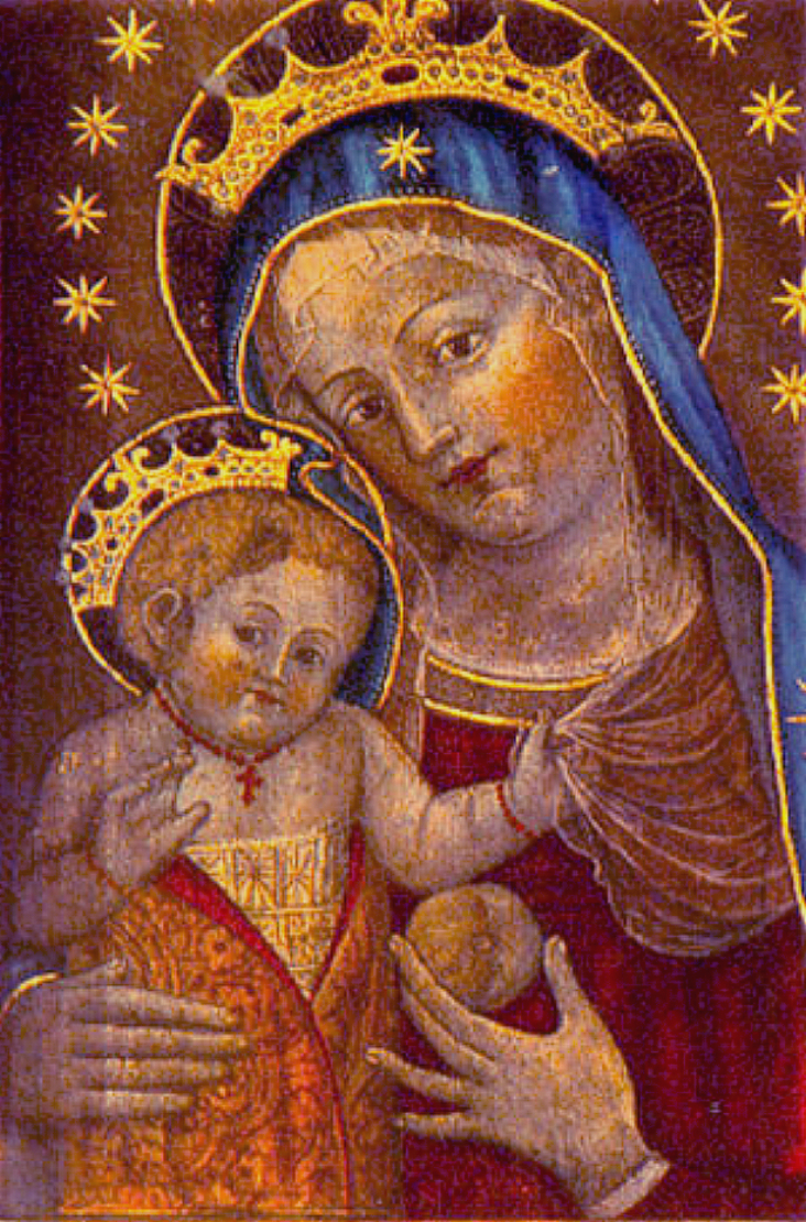 Madonna con Bambino di Caterina de' Vigri