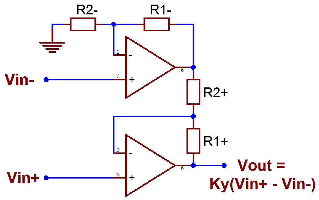 Файл:Current feedback op amp differential line receiver.png