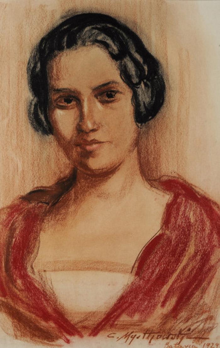 Czesław Mystkowski Lady in red 1929.JPG