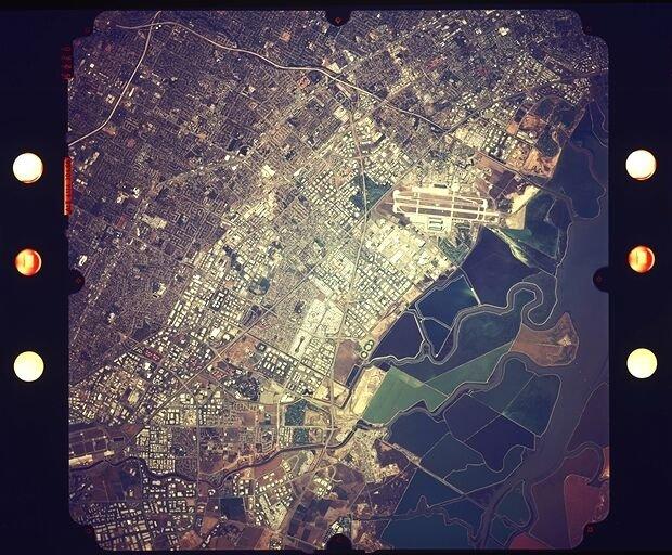 Силиконовая долина, снимок NASA