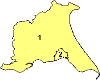The unitary authorities of the Ceremonial East Riding. 1. East Riding of Yorkshire (Unitary) 2. Kingston upon Hull (Unitary)
