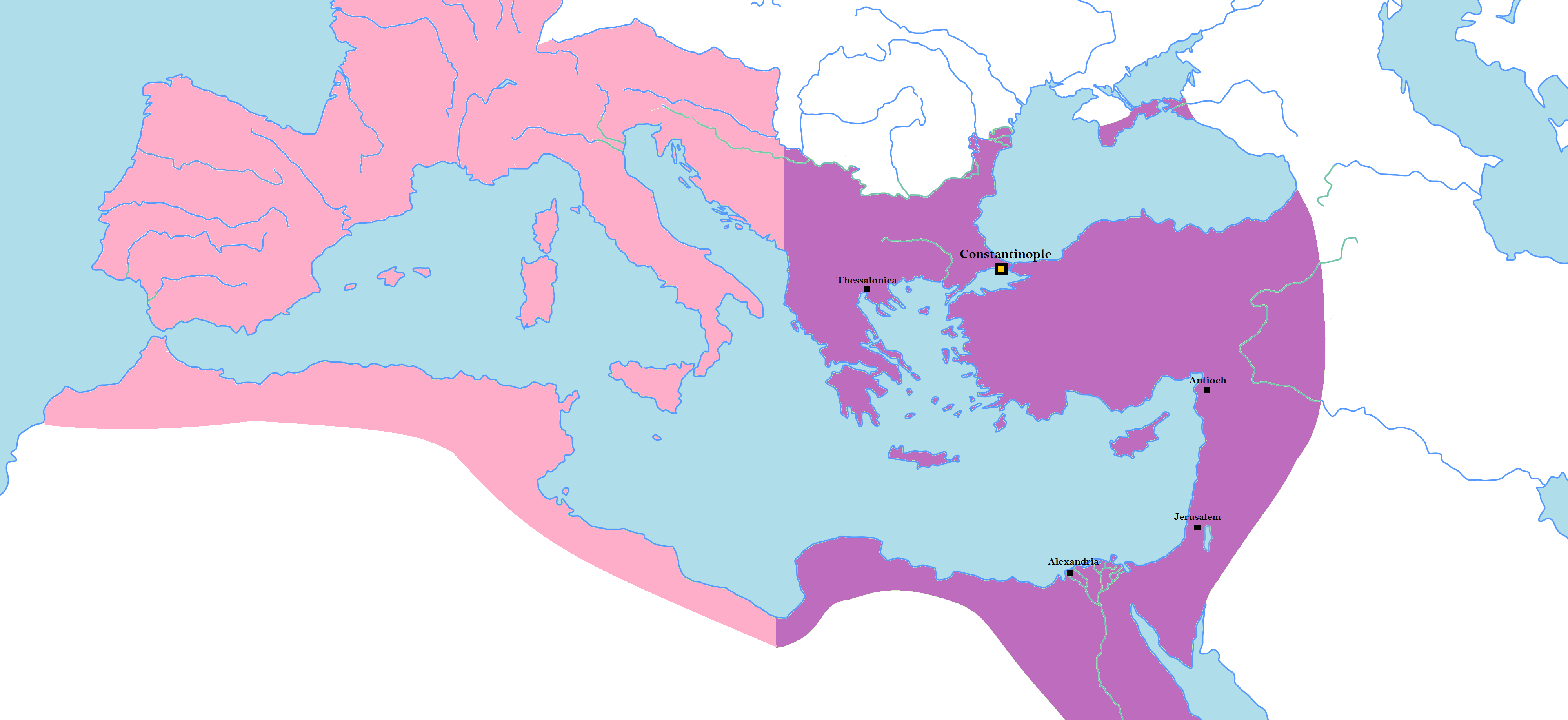 eastern roman empire map File Eastern Roman Empire With West Png Wikipedia eastern roman empire map