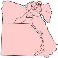 Map of Egypt with Port Said highlighted
