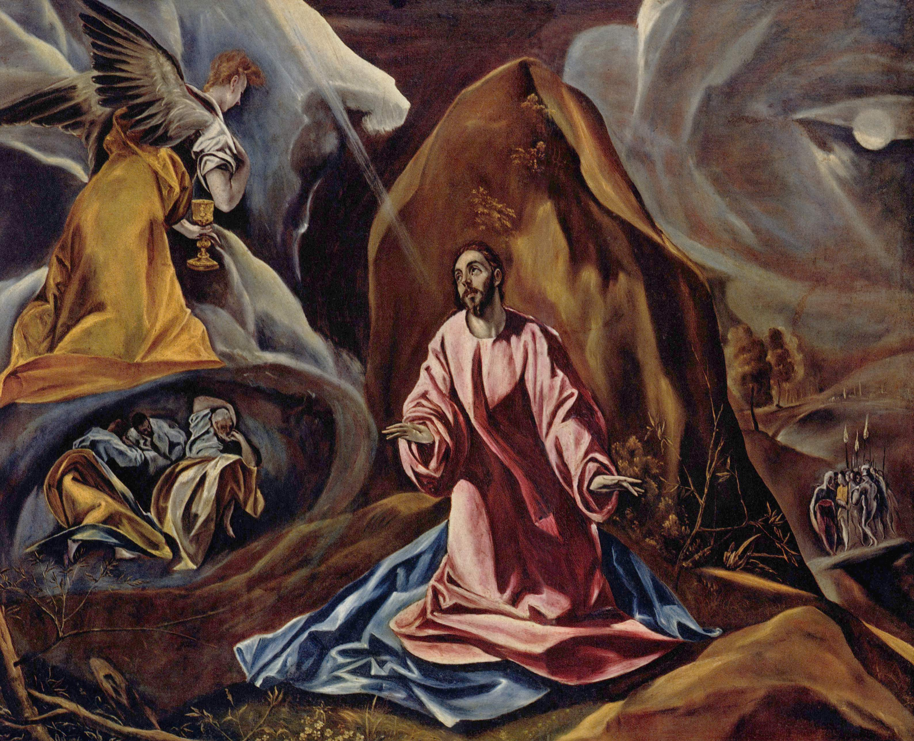 agony in the garden by el greco - Agony In The Garden