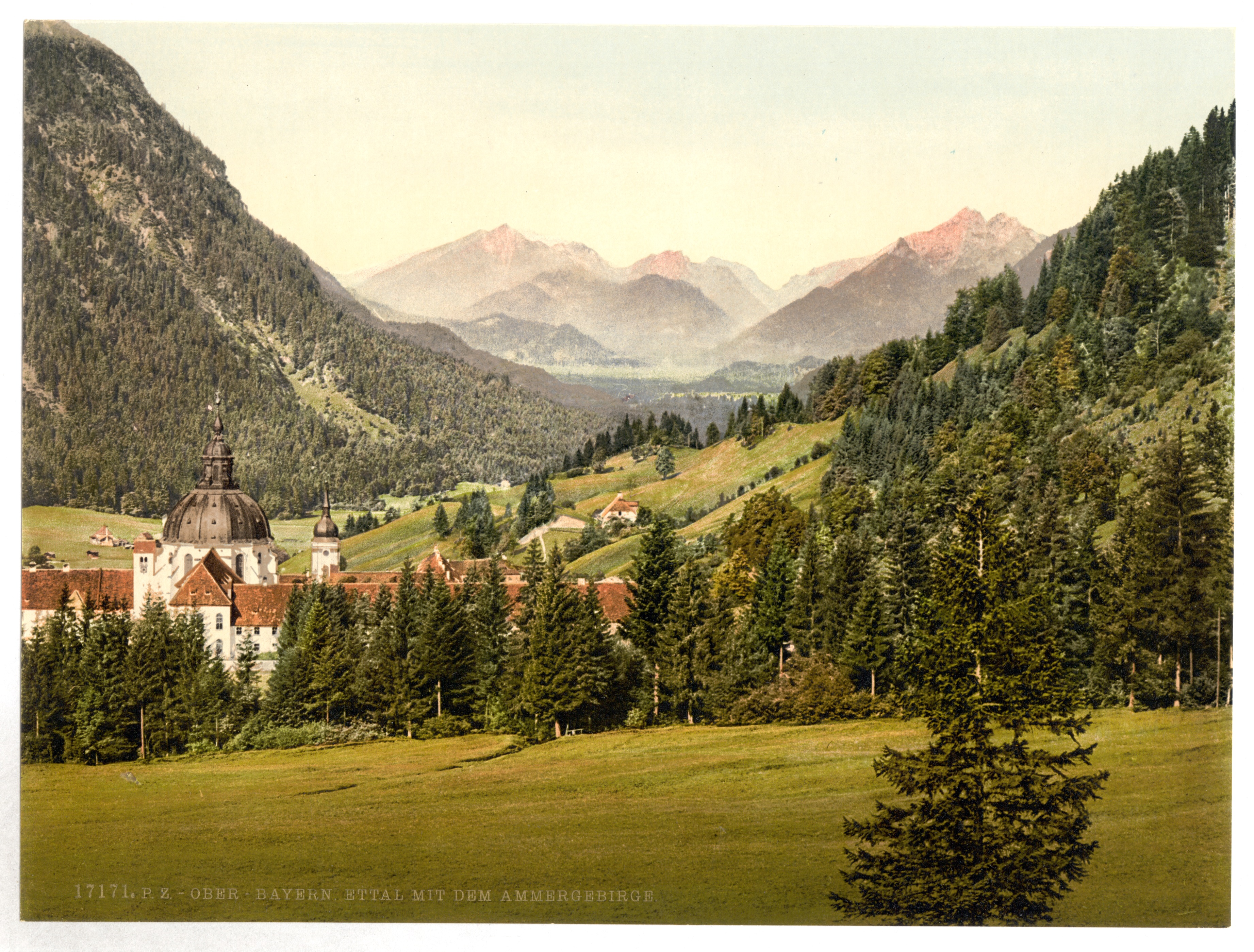 File Ettal With The Ammergebirge Upper Bavaria Germany