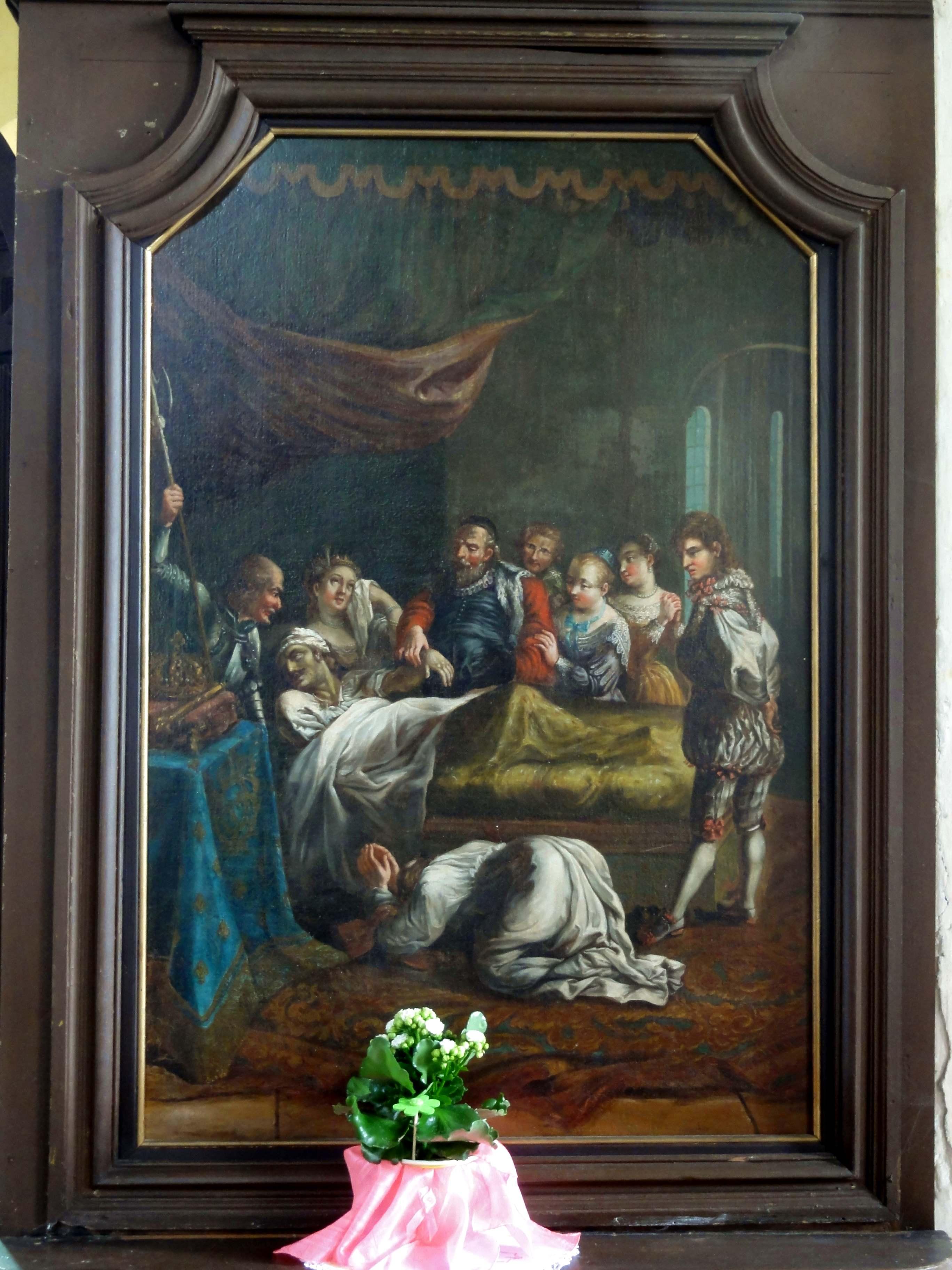File Feigneux 60 Eglise Saint Martin Nef Tableau La Mort De Charles Ix Jpg Wikimedia Commons