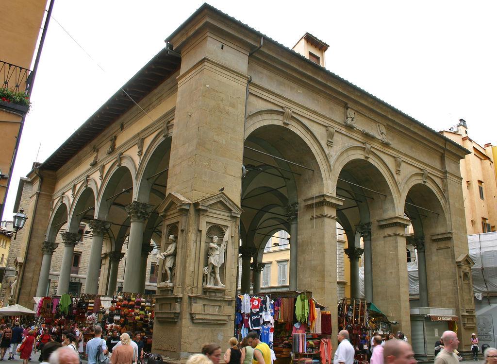Italian Florence: Loggia Del Mercato Nuovo