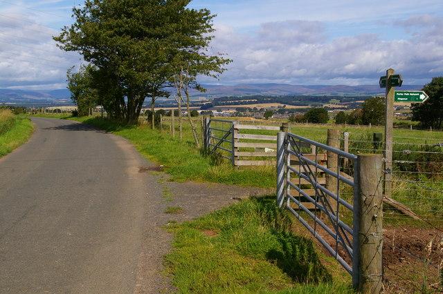 Forfar / Lour Road at Forfar Path Network near Caldhame