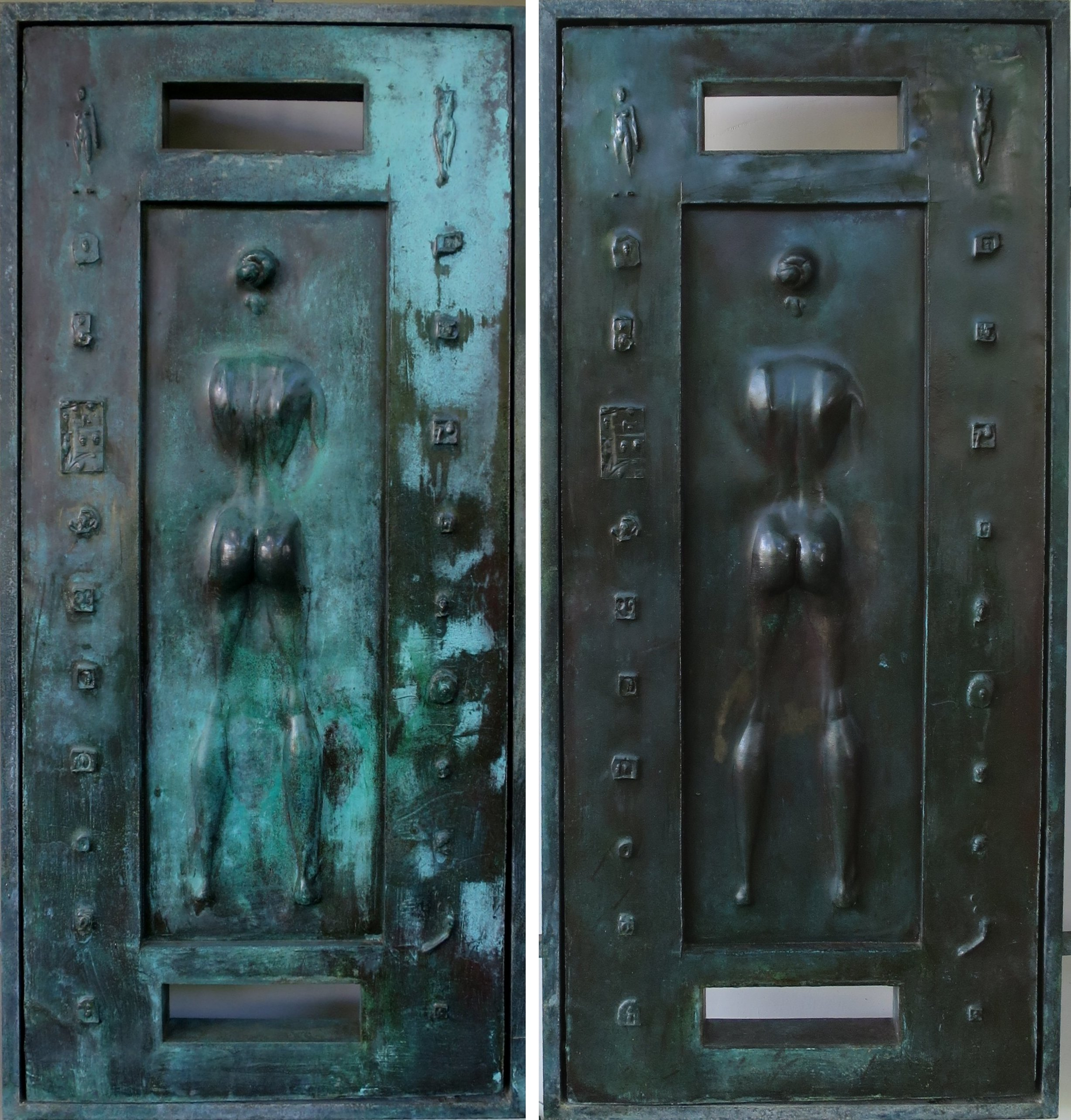 File:Front Doors Of Spalding House By Robert Graham, From Inside