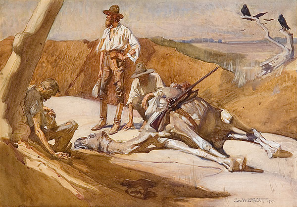 George Lambert - Burke and Wills on the Way to Mount Hopeless, 1907