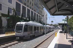 Gold Line train at Del Mar station, July 18, 2013.jpg