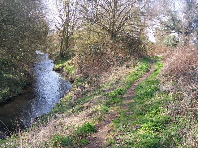Greensand Way beside River Bourne - geograph.org.uk - 1212215