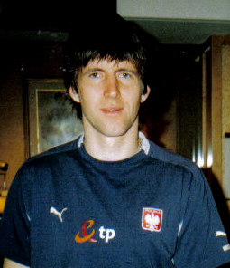 Rasiak with the Polish national team in August 2007 Grzegorz Rasiak.jpg