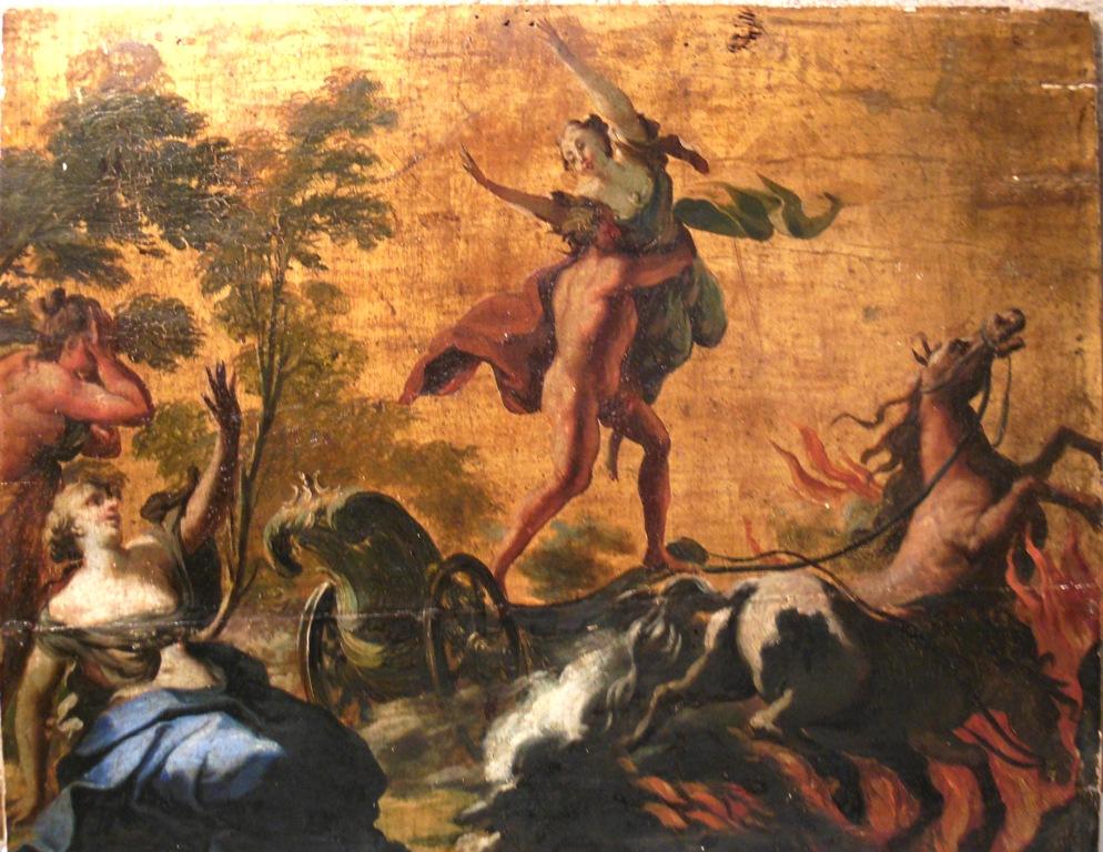 Ancient Greek Mythology Background wood with gilt background