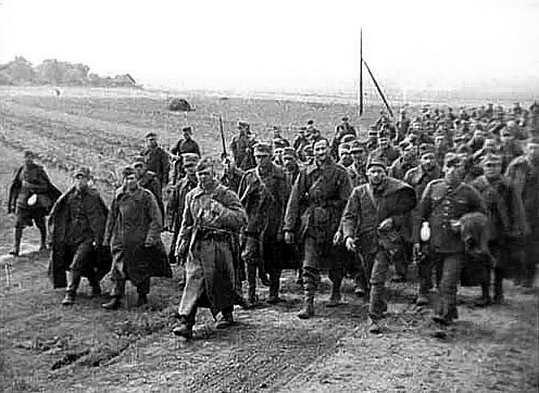 Polish prisoners of war taken by the Red Army.