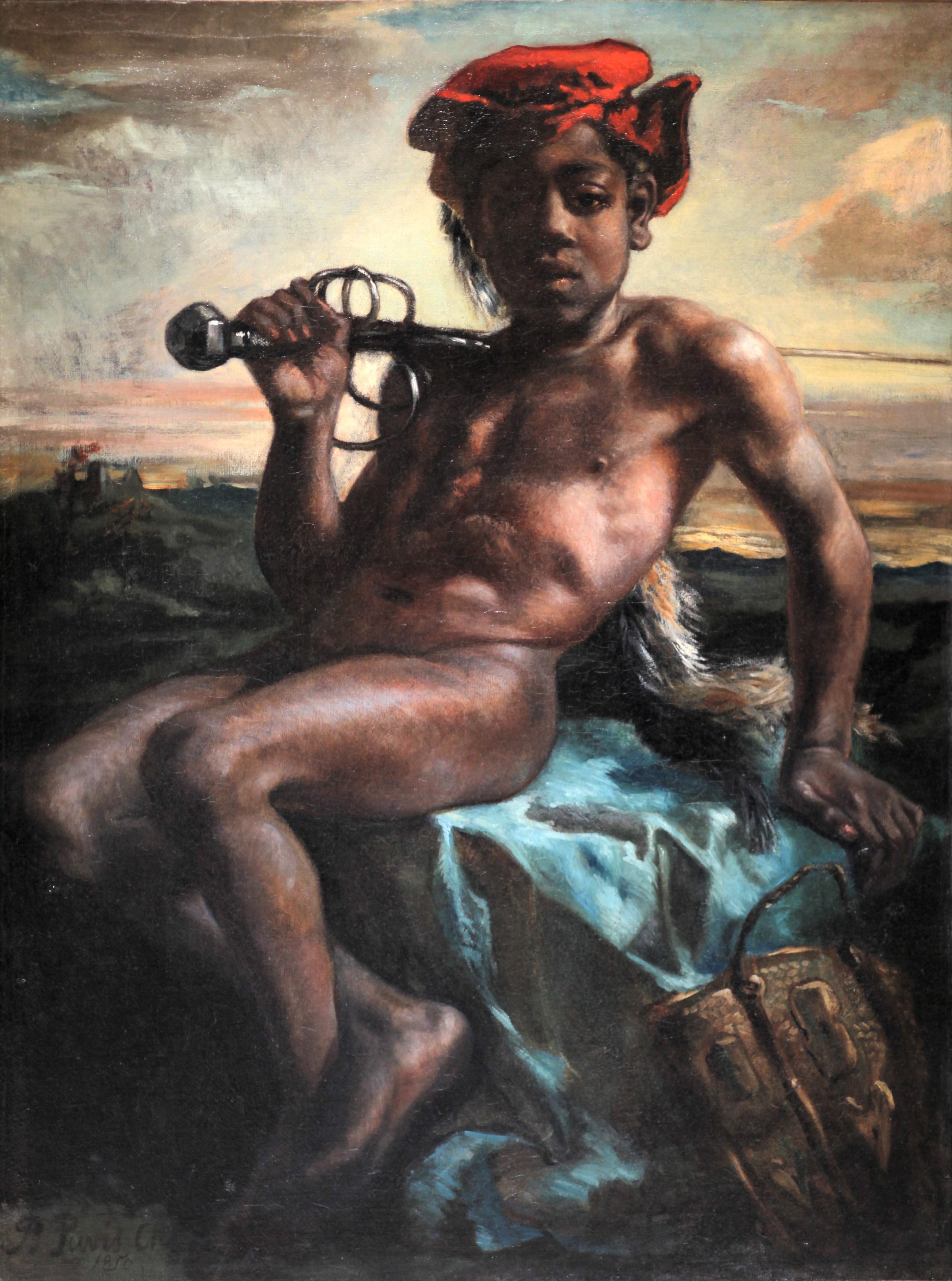 Jeune noir a l epee-Pierre Puvis de Chavannes-IMG 8127.JPG