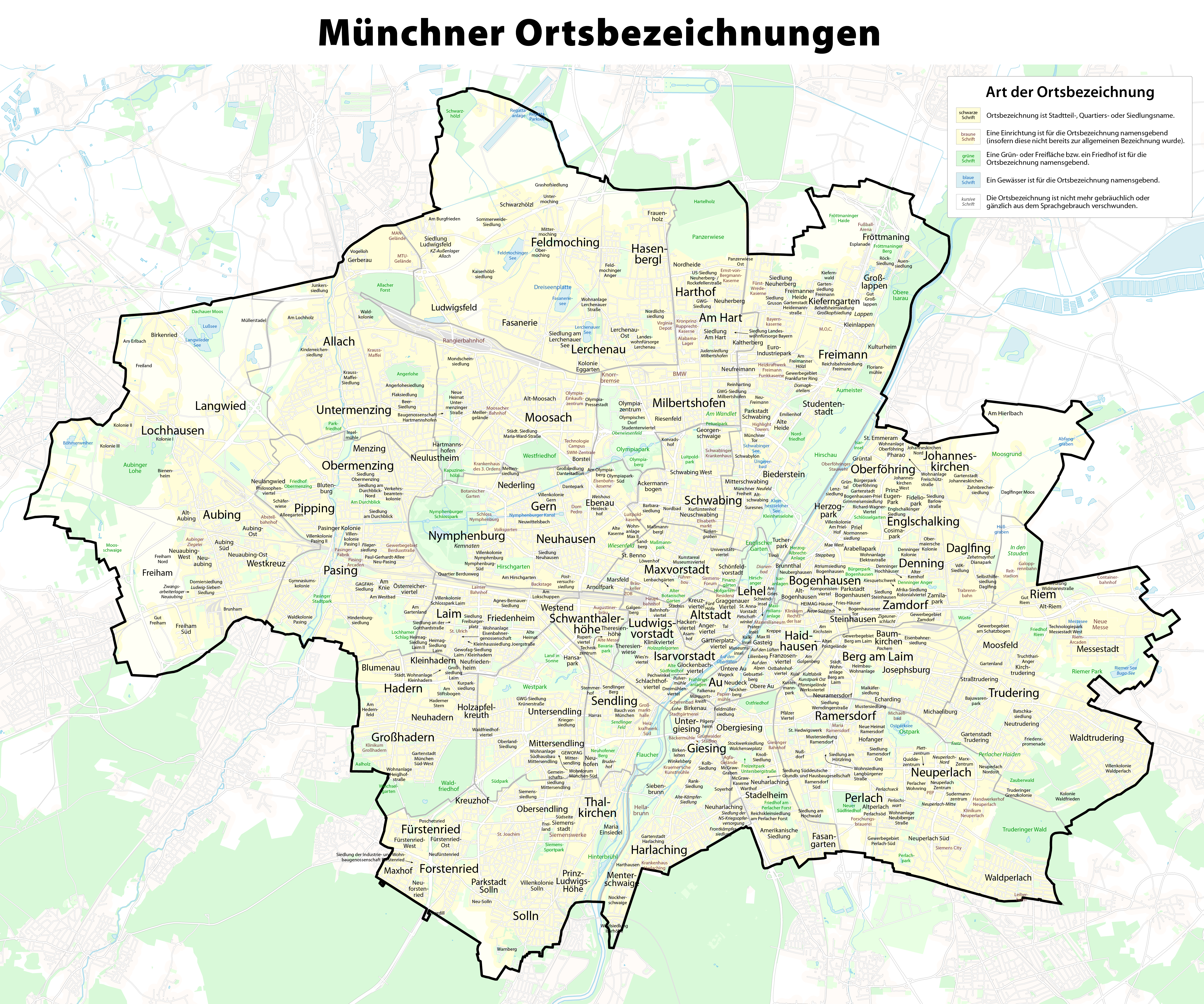 File Karte Der Ortsbezeichnungen In Munchen Png Wikimedia Commons