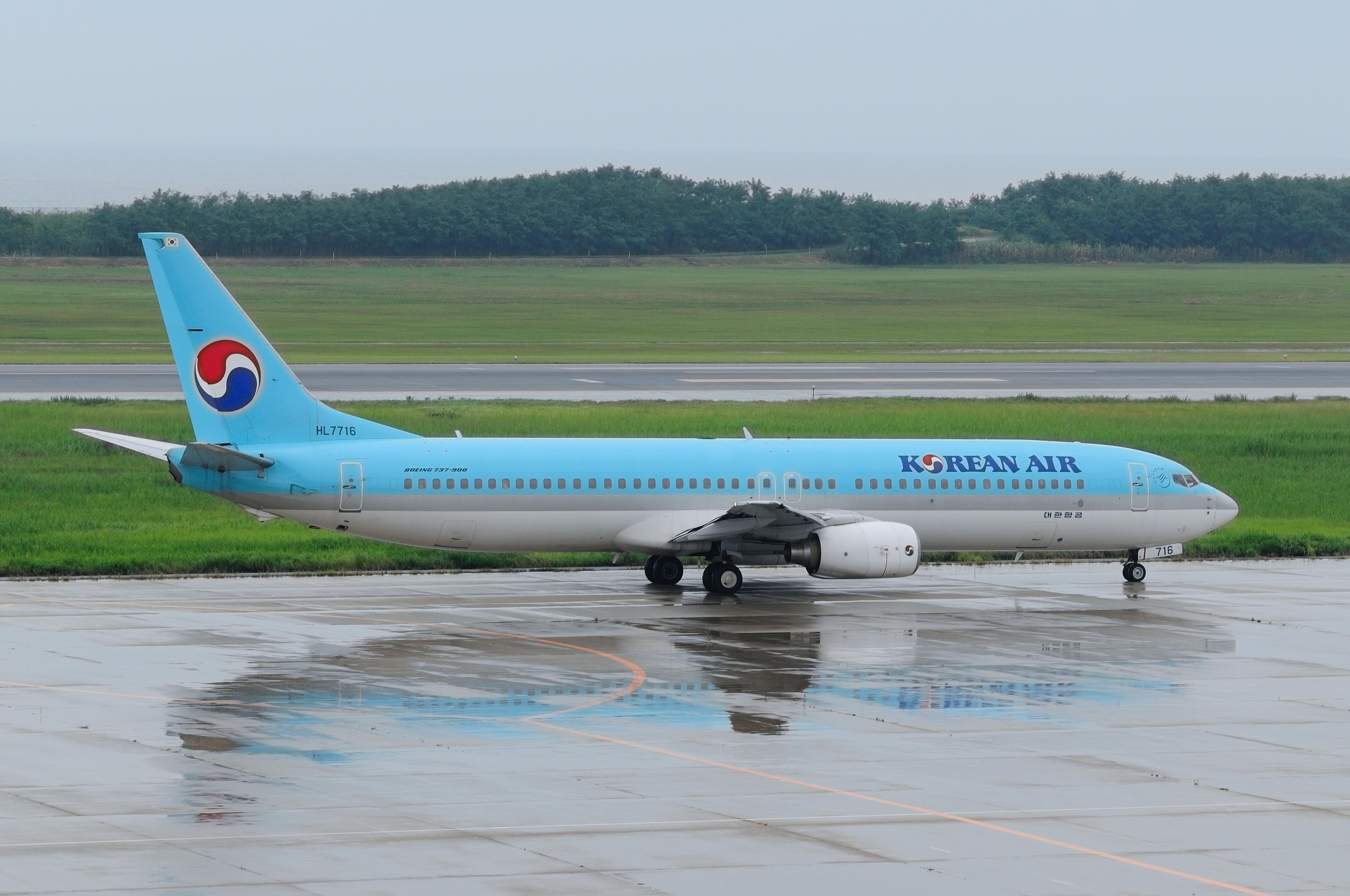 Description Korean Air Boeing 737 9B5 (HL7716299941320)