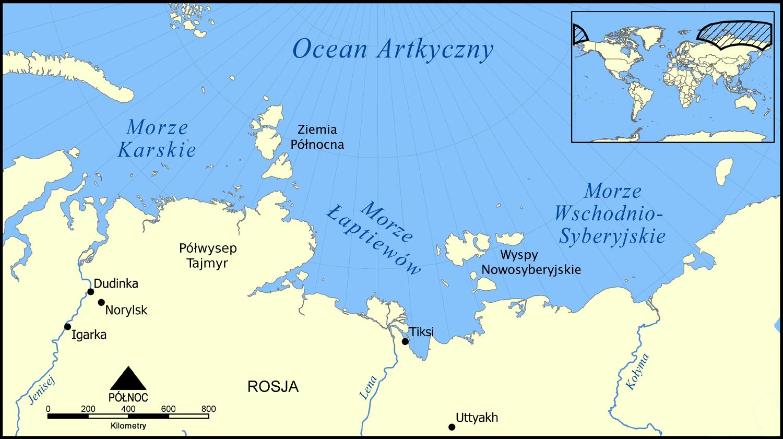 File Laptev Sea Map Morze Łaptiew 243 W Polish Version Pl