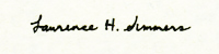 Summers' signature, as used on American currency