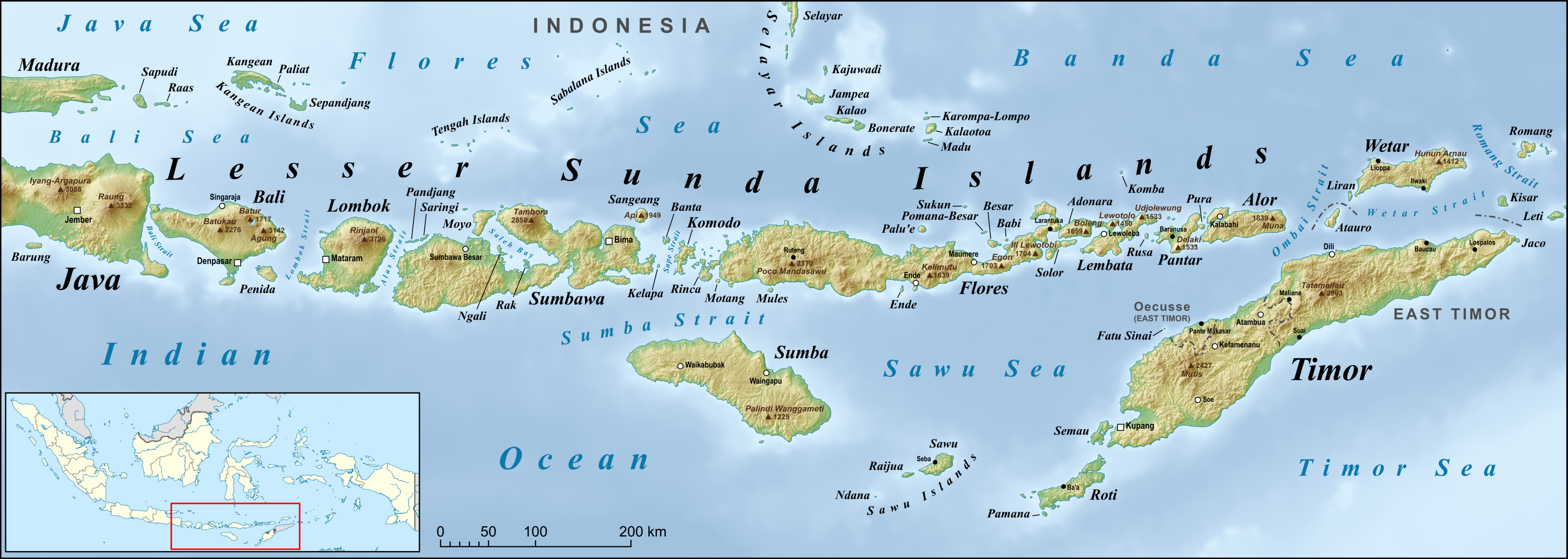 Where Is The Lesser Sunda Islands Located On A Map