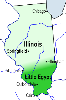 "Southern Illinois is also known as ""Little Egypt""."