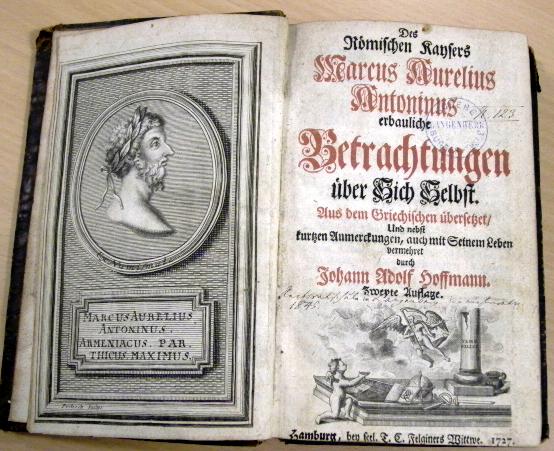 """Deutsche Übersetzung der """"Selbstbetrachtungen"""" (Hamburg, 1727)"""