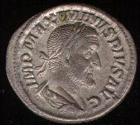 Antigo denário Romano.