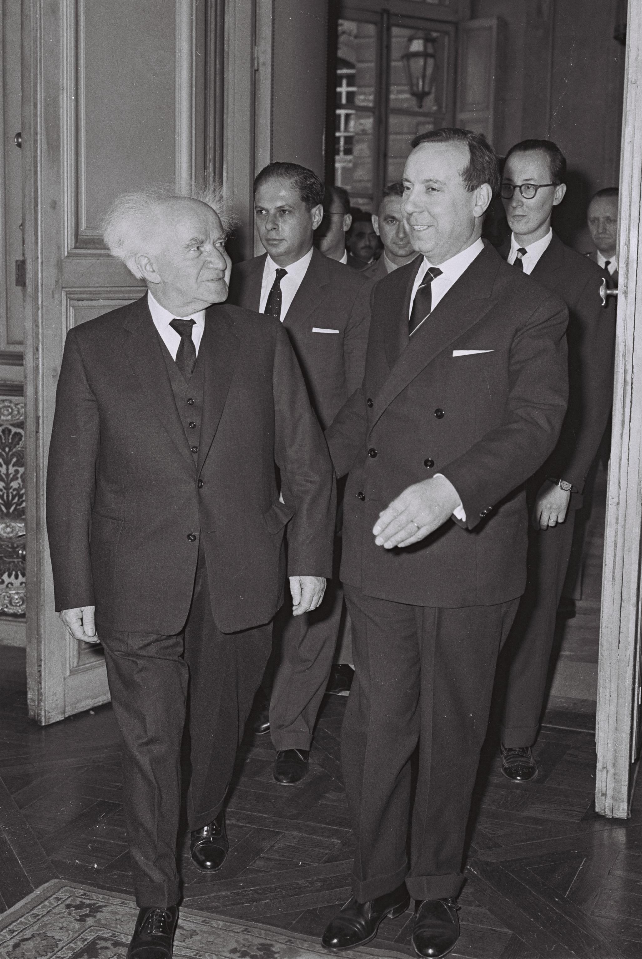 Fichier: Michel Debre - David Ben Gurion 1960.jpg