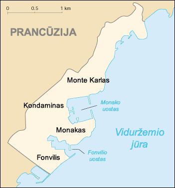 Monte Carlo World Map.Vaizdas Monaco Cia Wfb Map Lt Png Vikipedija