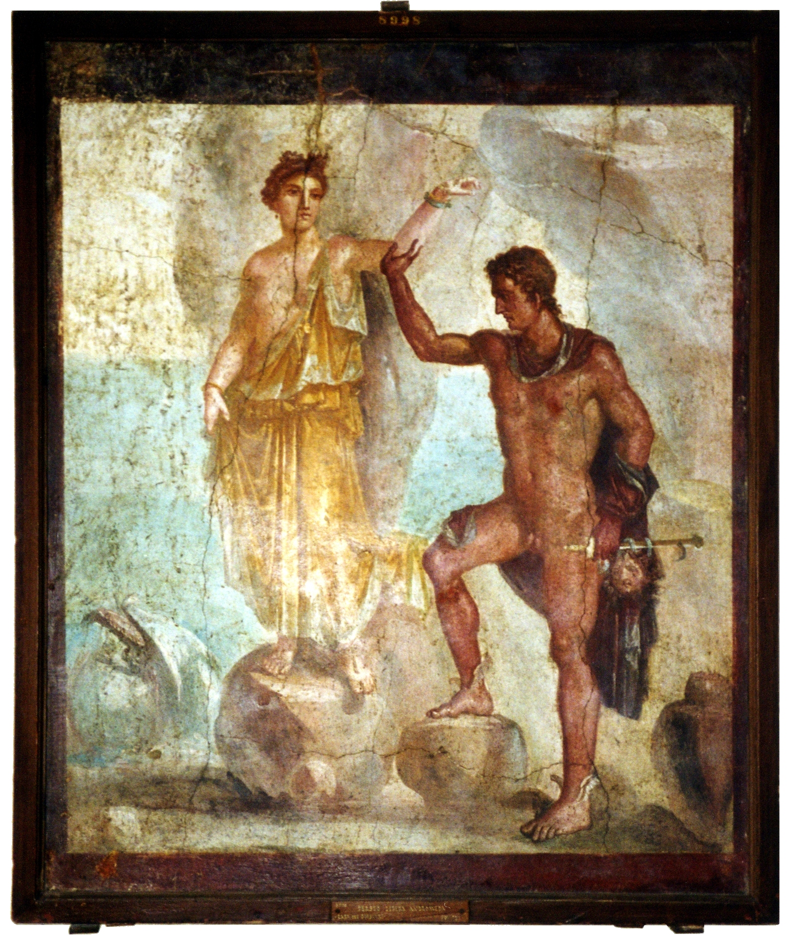"Wall painting from Pompeii found in the ""..."