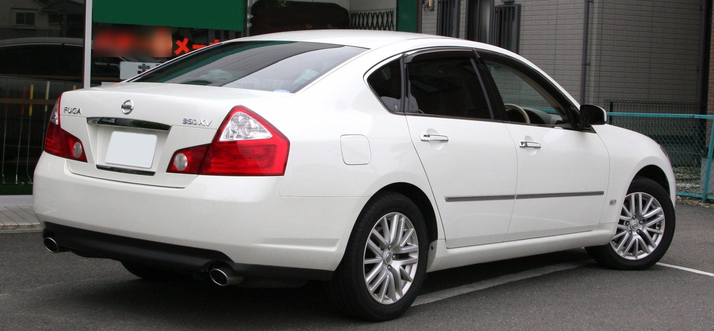 File Nissan Fuga 350xv Rear Jpg Wikimedia Commons