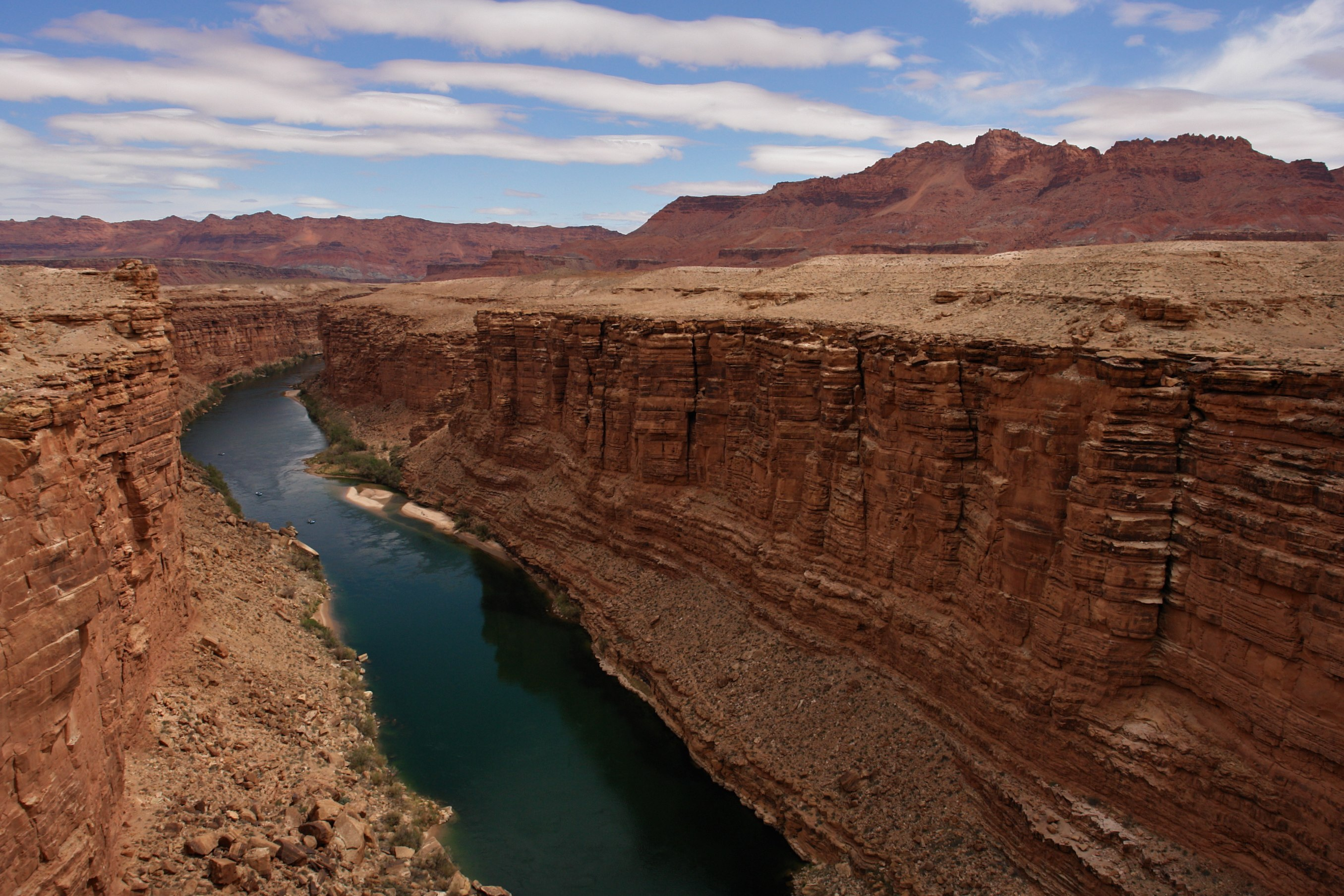 File Navajo Bridge Colorado River And Marble Canyon Below
