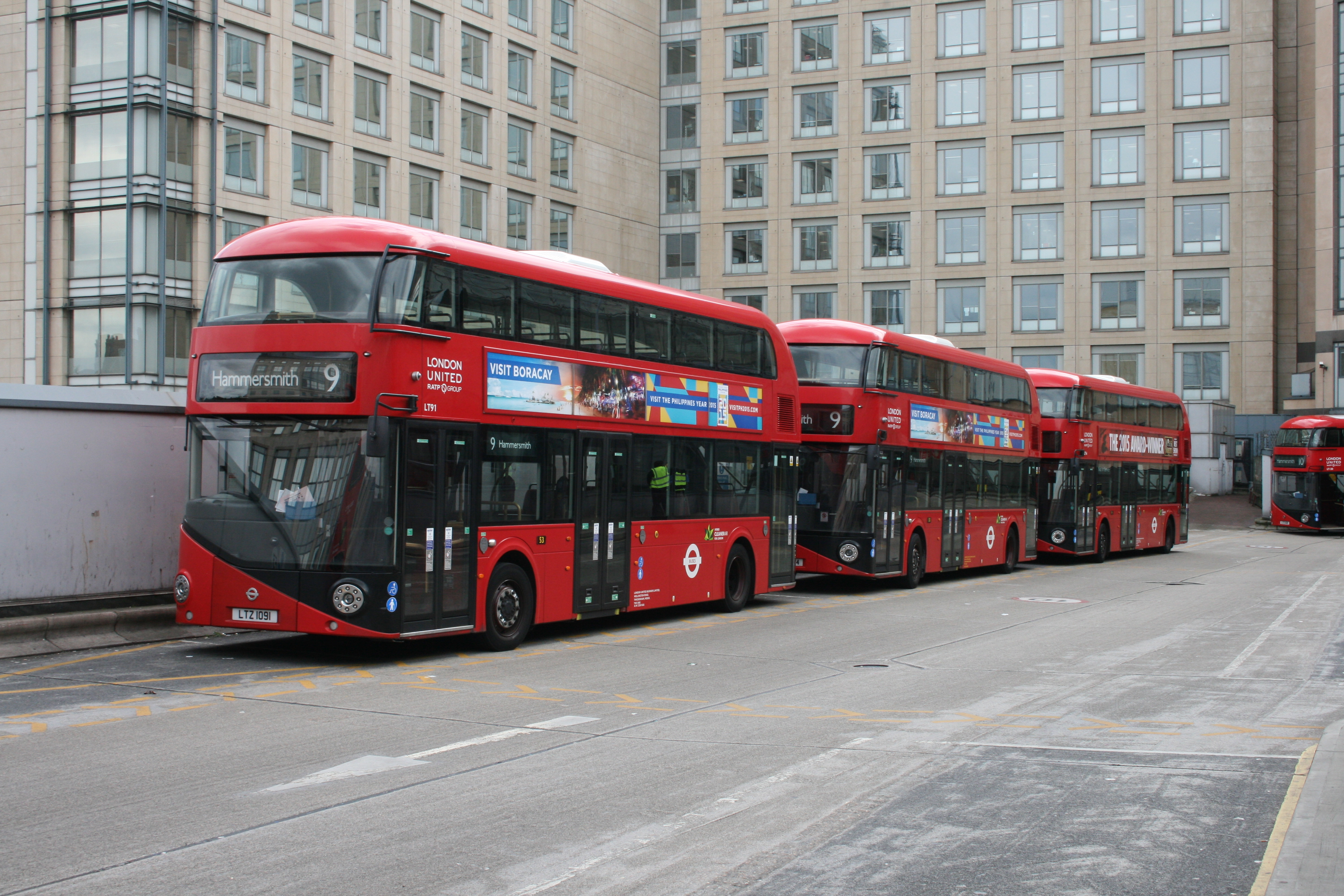 File New Routemasters Hammersmith Bus Station 15 June