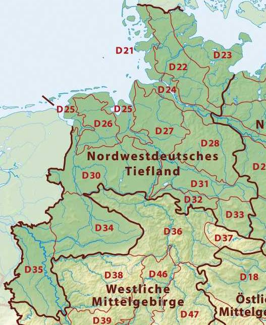 Map Of North West Germany.Westphalian Lowland Wikipedia
