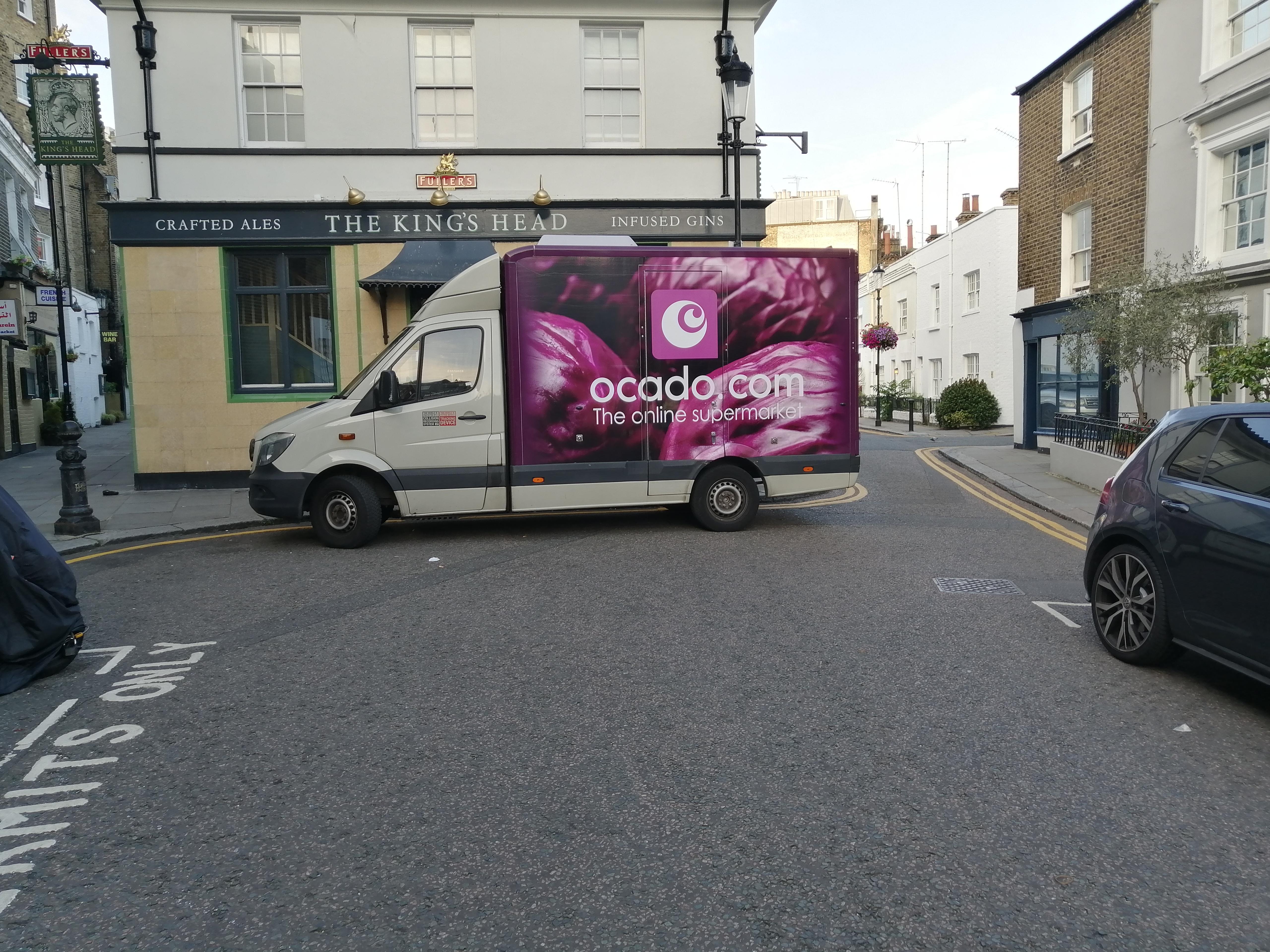 File:Ocado van, parked in Kensignton, London.jpg