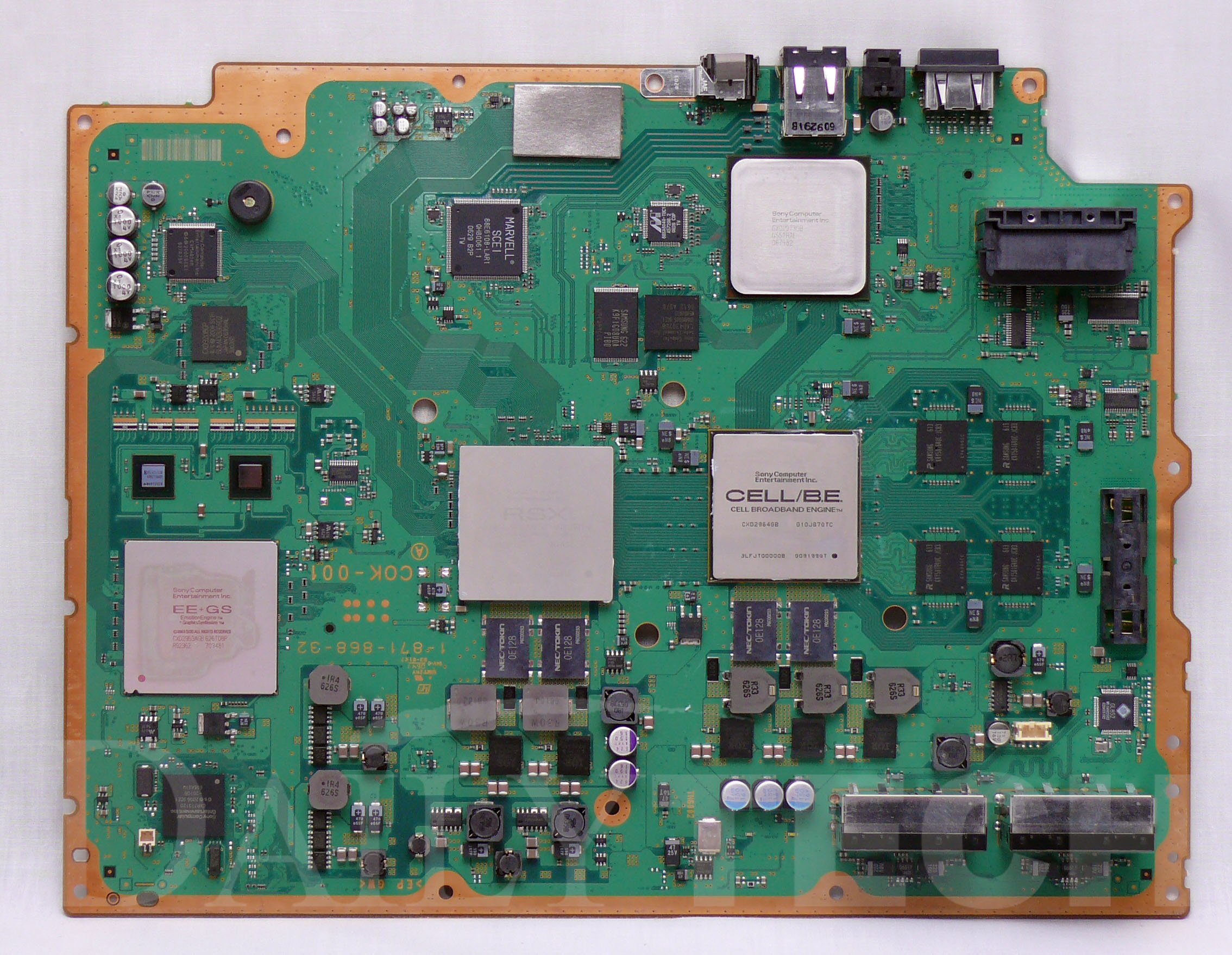 Ps3 Controller Motherboard Diagram Free Wiring For You Wire File Ntsc Cok 001 60gb Version Parts