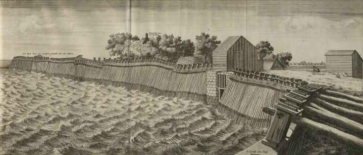 Palendijk langs de Zuiderzee