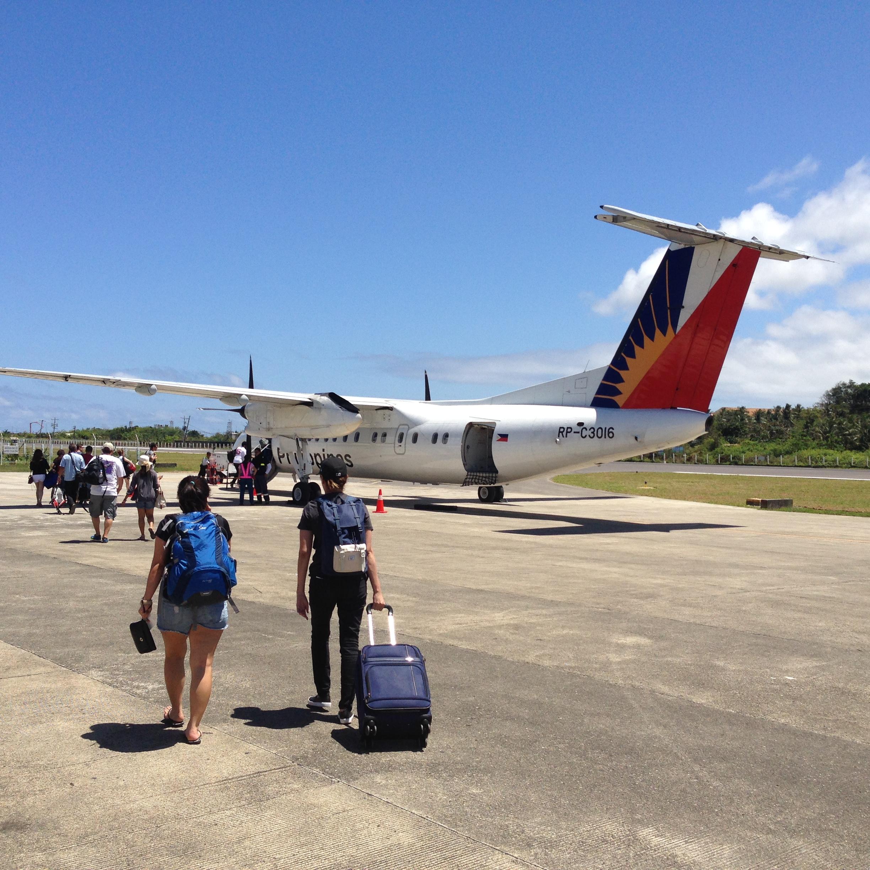 フィリピン航空のプロペラ機材には機内食はない