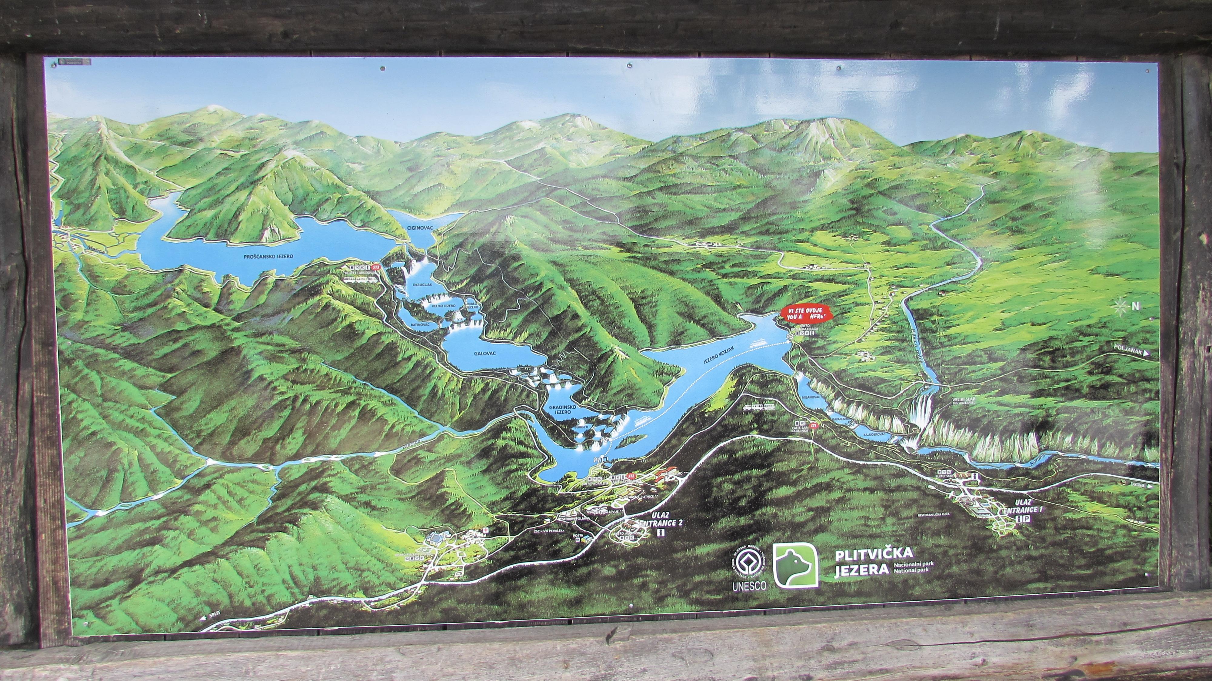 Nationalpark Plitvicer Seen Karte.Nationalpark Plitvicer Seen Wikiwand