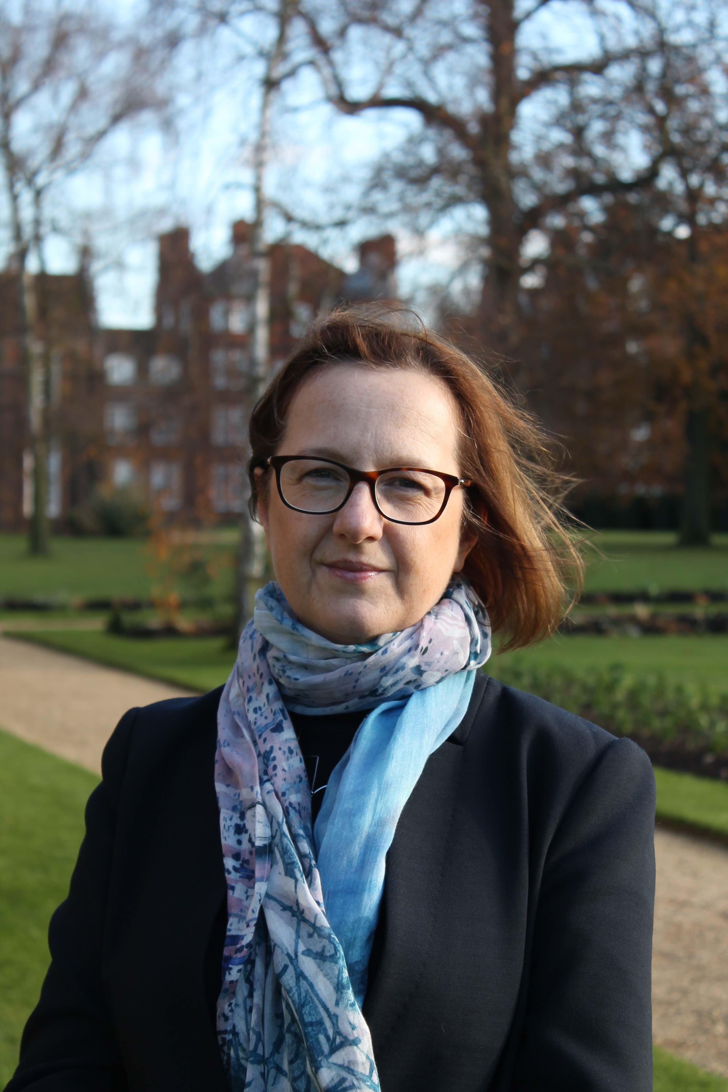 Professor Kasia Jaszczolt at Newnham College, 2017