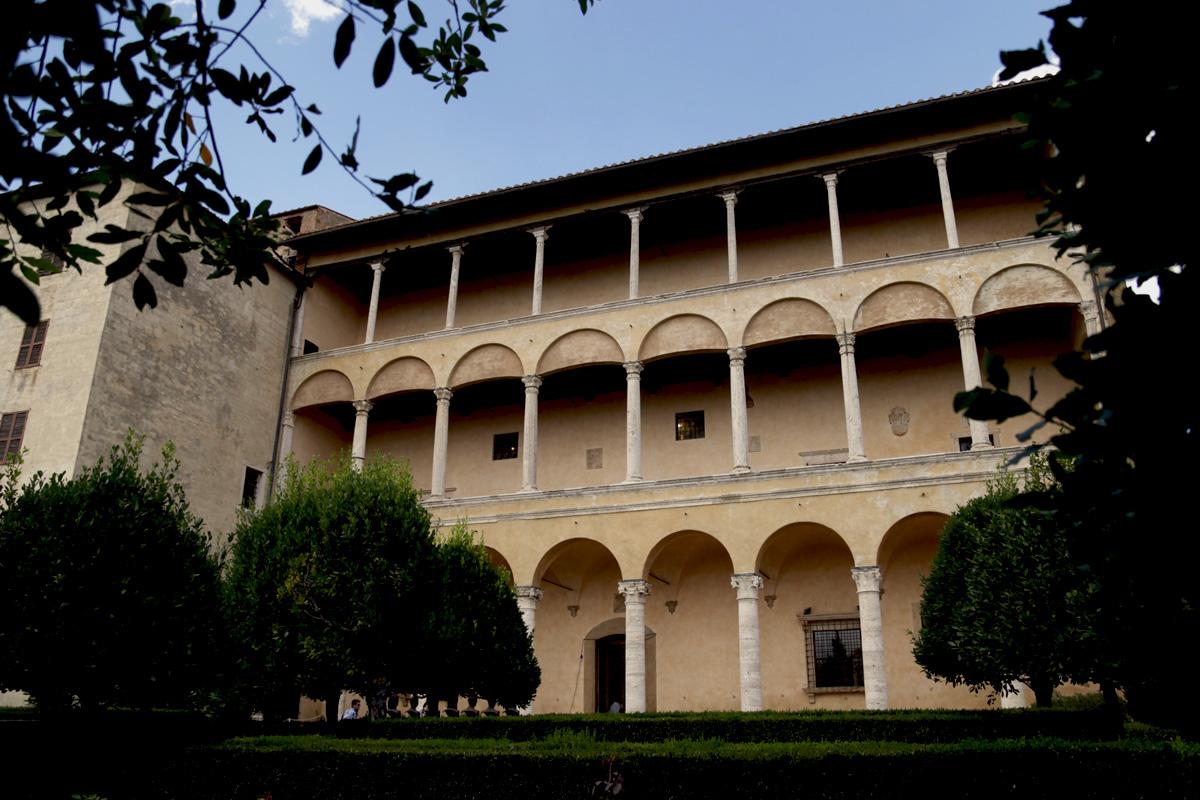 Pienza, Palazzo Piccolomini, la facciata sul giardino